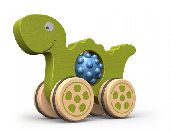Begin Again Wooden Green Dino Nubble Rumblers 18+ Months